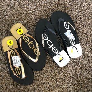 Bebe sandals size 5